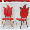 Yc- Ss39 Chinese Designer Red Leather Fabric Hotel Dining Chair