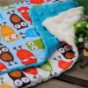 Cotton Print with Dimple Minky Bed Pillows for Baby