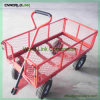 Hot Sell Foldable Heavy Duty Garden Trolley Cart Metal Wagon