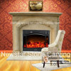 White Marble Simple Fireplace with Columns 160 X 120cm