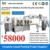 Automatic 3 in 1 Water Filling Sealing Labeling Wrapping Packing Packaging Machine
