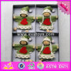 2076 Wholesale Baby Wooden Christmas Dolls, Lovely Kids Wooden Christmas Dolls, Cartoon Wooden Christmas Dolls W02A218