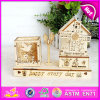 2015 Cartoon Wooden Pencil Vase for Kids with Music Box, Wooden Pencil Holder, Wooden Music Box, Wooden Crafts W02A031