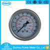 2.5inch Half Stainless Steel Back Thread Type Liquid Filled Pressure Gauge