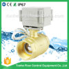 "1 1/4"" Inch Dn32 AC/DC 9-36V Brass Electric Valve Motorized Ball Valve"