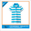Wholesale Women′s Running Polo T-Shirt with a Wide Striped Pattern