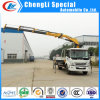 New Design Dongfeng 4*2 Grapple Crane Truck 5tons