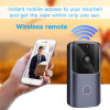 Smart Wi-Fi Video Doorbell Smart Home 1080P HD Video Camera Two-Way Audio PIR Motion Detection Night Vision Waterproof Ios & Android