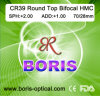 Cr39 1.499 Round Top Bifocal Hmc 70/28mm Optical Lens