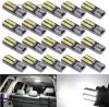 Car LED Lighting T10 Wedge LED Replacement Bulbs for 12V Car Interior Dome Map Door Courtesy Trunk License Plate Lights