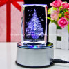 Christmas's Gifts 3D Laser Engraved Crystal with Christmas Tree