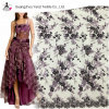 Black Purple Elegant Embroidery Tulle Mesh 3D Lace Bead Fabric