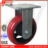 5 Inch Industrial Korea Type Cast Iron PU Fixed Caster