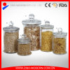 Clear Canning Jars Cylinder Glass Jar with Lid Custom Canister Wholesale Glass Jars for Food