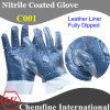 Leather Glove with Nitrile Full Coating (C001)