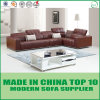 Italian Modern Sectional L Shape Brown Leather Sofa