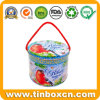 Hot Sale Round Metal Tin Box with String for Chocolate Candy Gifts