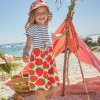 Strawberry Printing Baby Girls Clothes Kids Summer Dress