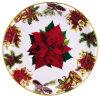 Round Christmas Gift Plastc Plate Kitchen Ware
