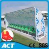 Shatterproof Outdoor Substitute Bench / Sports Team Shelter for Grass Field