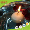 White Round 4.5h Floating Candle for Home Decoration