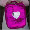 Sequin Heart Lunch Bag