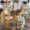 Party Used Customized Metal Marble Top Display Wedding Decoration Flower Stand