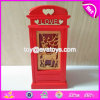 Customized House Shape Wooden Boys Piggy Bank for Coin Saving W02A269
