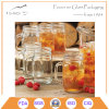 Transparent Glass Drinking Mason Jar with Handle