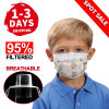 Kids Protective Mask Ultra Soft Fabric Meltblown High Filtration Mask Children Anti Virus Anti Spray Personal Health Disposable Face Mask Earloop Kids 3ply Mask