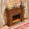 Modern Wood Hotel Furniture LED Lights Heater Electric Fireplace (337)