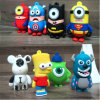 Cartoon Silicone Stilie USB Creative Cute Personality Doll USB Flash Drive