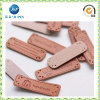 Garment Accessories PU Leather Label with Embossed Logo (JP-LL004)