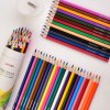 Natural Colour Color Colored Pencil Set with Sharpener and Paper Tube Case Painting