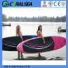 12'6 Inflatable Stand up Sup Surf Board / Longboard / Bodyboard/ Surfing Board with Paddle/ Hand Pump/ Leash/ Backpack/ Repairing Kit / Fins