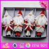 2017 New Products Kids Christmas Wearing Warming Wooden Doll Craft Supplies W02A249