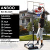 Portable Basketball Stand with Movable HDPE Base Adjustable Backboard Spring Rim for Adult