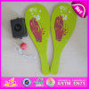 2015 High Quality Wooden Beach Paddle with Printing, Summer Kid Beach Tennis Paddle, Wooden Beach Paddle with Plastic Tray W01A105