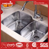 Stainless Steel Kitchen Sink, Kitchen Sink, Kitchen Basin, Stainless Steel Under Mount Double Bowl Kitchen Sink with Cupc Certification