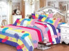 Poly/Cotton Printed Twin Fitted Bedspread Patchwork Bedding Set