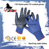 13G Blue Lind Palm Black PU Coated Industrial Glove