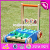 New Design Cartoon Crocodile Wooden Push Along Toys for Toddlers W16e059