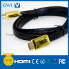 Flat HDMI Cable 19 Pin Plug-Plug Cable for 4K & HDTV with Gold Plug