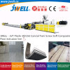 Jwell - Lvt Plastic 80/156 Conical Twin Screw Soft Composite Floor Recycling Making Extrusion Machine with The Advantage of Waterproof and Moistureproof