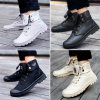 Autumn and Winter Men′s Boots Martin Boots Rubber Sole Trend of Korean Canvas Boots