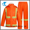 Men′s Reflective Orange Traffic Rain Pants and Jacket