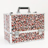 Aluminum Jewelry Box Multi-Function Three Layer Folding Makeup Case