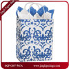 Classicality Blue Shoppers Customized Colorful White Kraft Paper Bag for Garment