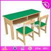 Wholesale High Quality Wooden Kids Desk and Chair for Primary and Kindergarten W08g227