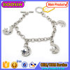Wholesale Fashion Alloy Jewelry Moon and Star Charm Bracelet